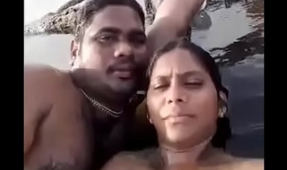 Desi Tweak and GF private fun on beach