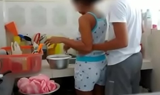 Indian Brother Sister fucking in Kitchen