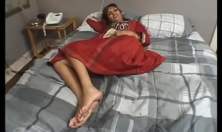 Sex tits Indian honey gets bawdy cleft slammed hard by two white dong in bed