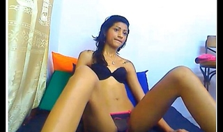Indian legal age teenager wearing black bra and panty 2