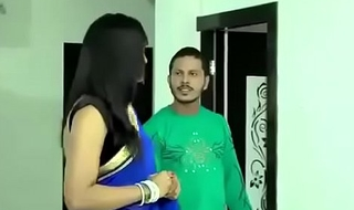 Beautiful Bhabhi in saree doing hot sex with transformation man