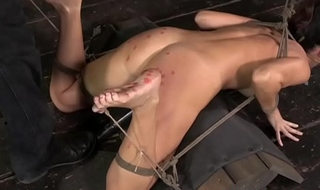 BDSM sub India Summer crowd wax covered